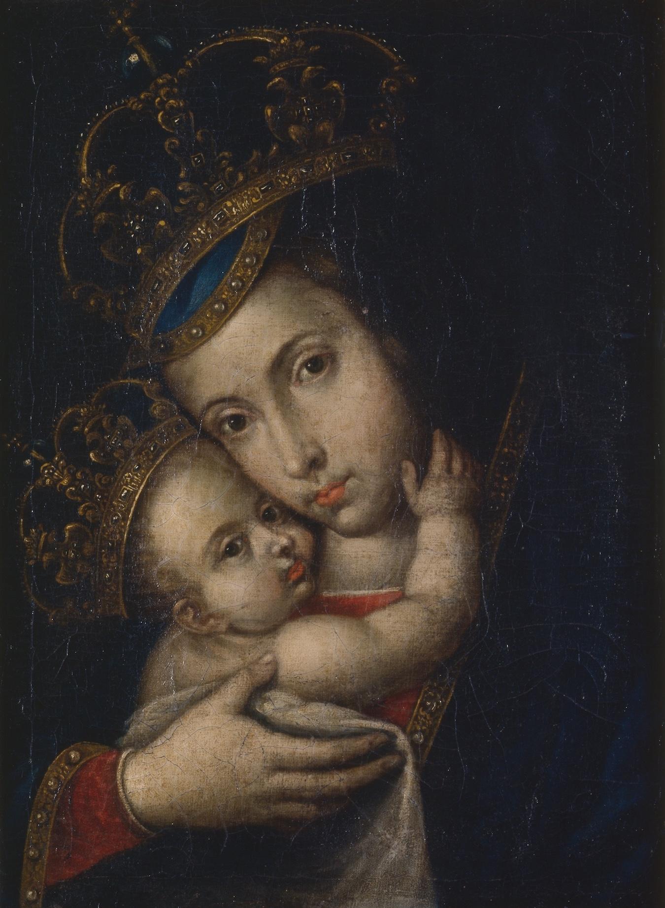 Objeto museológico (Virgem e Menino Coroados)