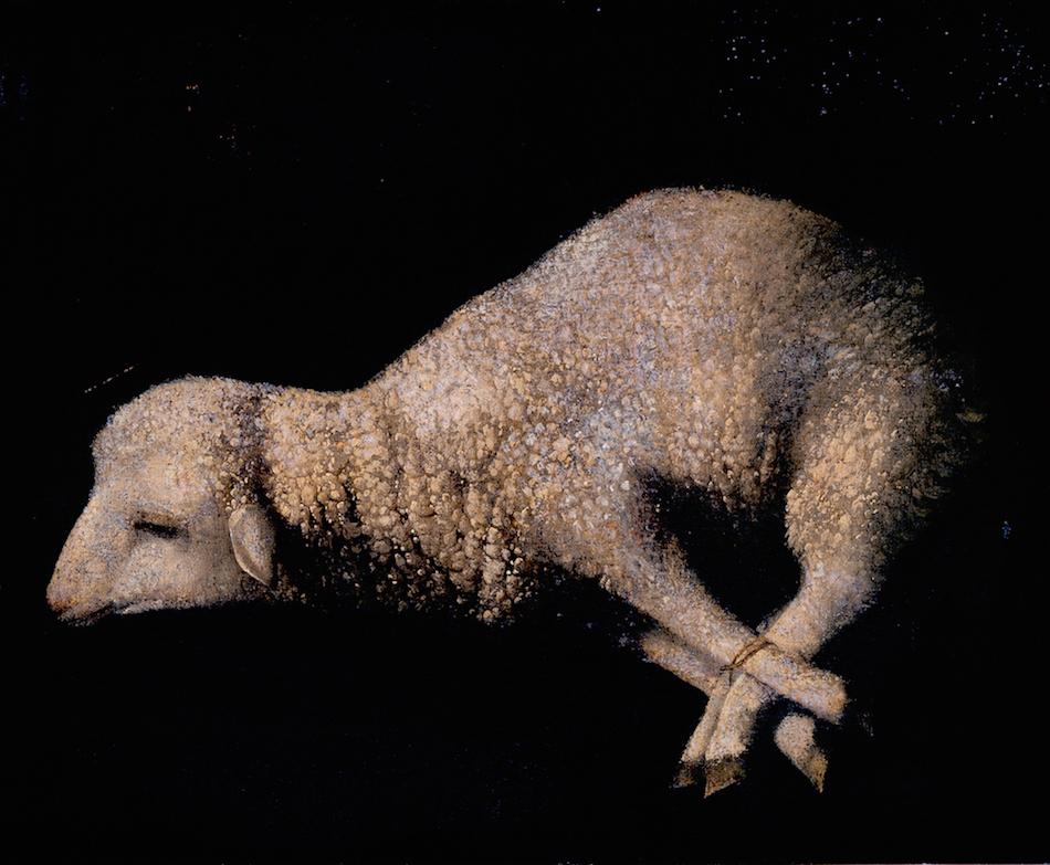 Objeto museológico - Cordeiro Místico atribuído da Josefa de Óbidos