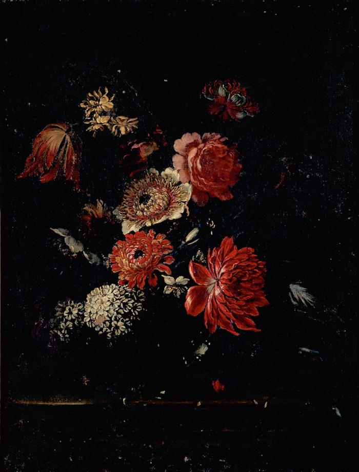 Objeto museológico - Natureza-Morta com ramo de flores numa jarra de pé