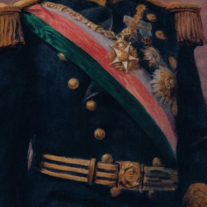 Pormenor da pintura Retrato do Rei D. Manuel II