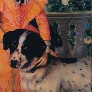 Pormenor da pintura Retrato da Baronesa de São Diniz