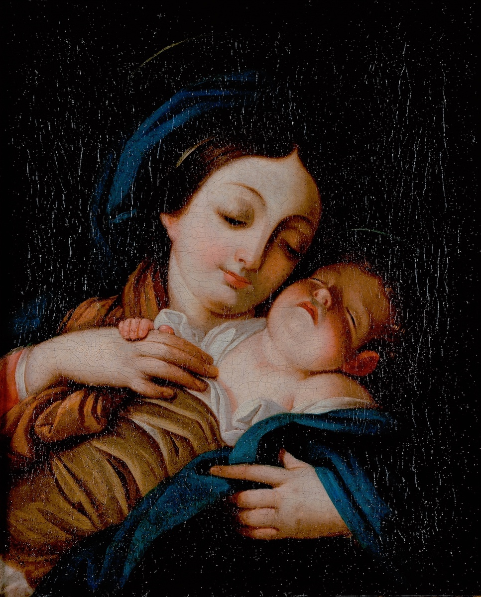 Pintura Virgem com o Menino