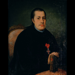Pormenor da pintura Retrato de Frade com cruz da Ordem de Cristo