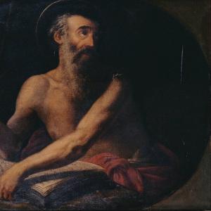 Pormenor da pintura São Jerónimo