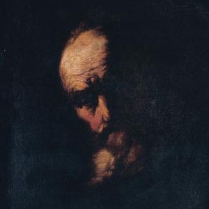 Pormenor da pintura Retrato de Filósofo