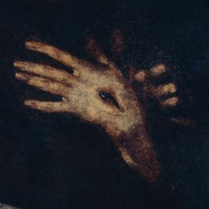 Pormenor da pintura São Francisco de Assis