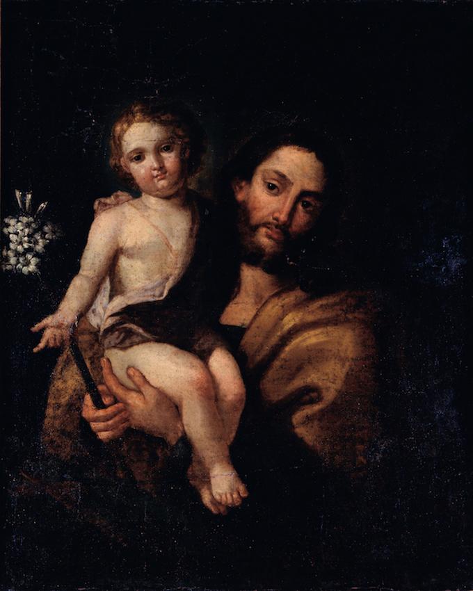 Pintura São José com o Menino Jesus