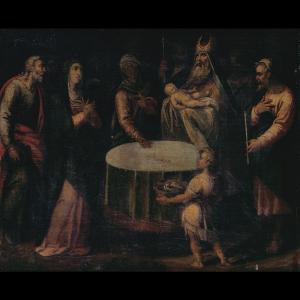 Pormenor da pintura A Circuncisão do Menino Jesus