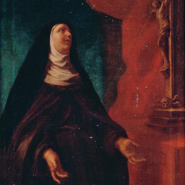 Pormenor do quadro Santa Teresa de Jesus