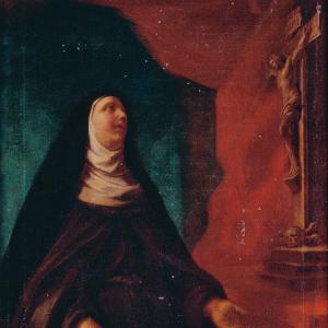Pormenor da pintura Santa Teresa de Jesus