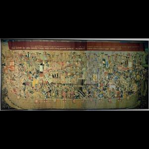 Pormenor da tapeçaria de Pastrana - O Cerco