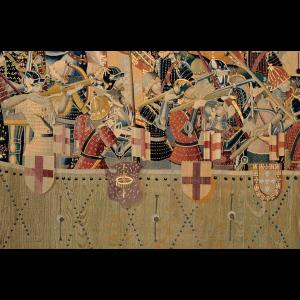 Pormenor da tapeçaria de Pastrana - O Assalto
