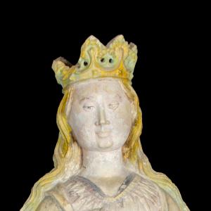Pormenor da escultura Santa Catarina de Alexandria