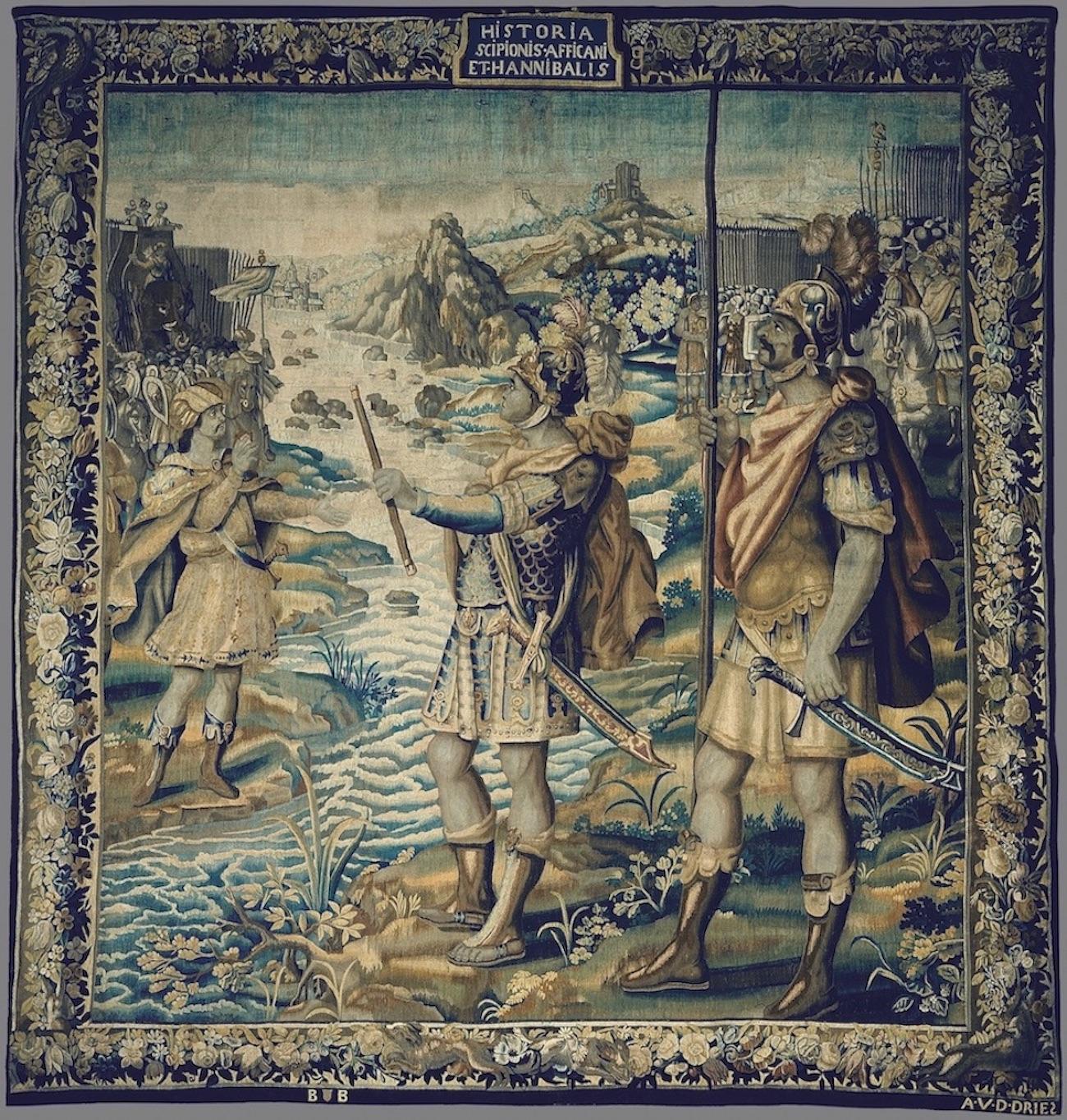 Tapeçaria Encontro de Cipião, O Africano, com Aníbal Barca