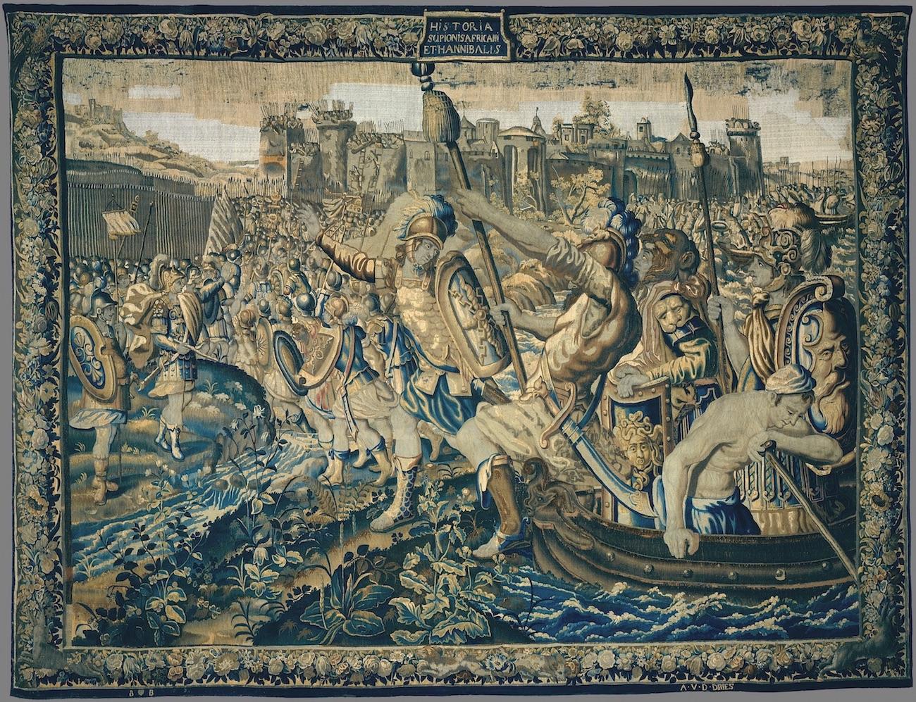 Tapeçaria Desembarque das hostes de Cipião em Utica