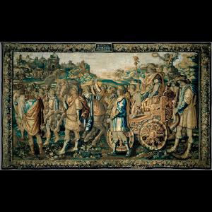 Pormenor da tapeçaria Entrada Triunfal de Cipião em Cartago