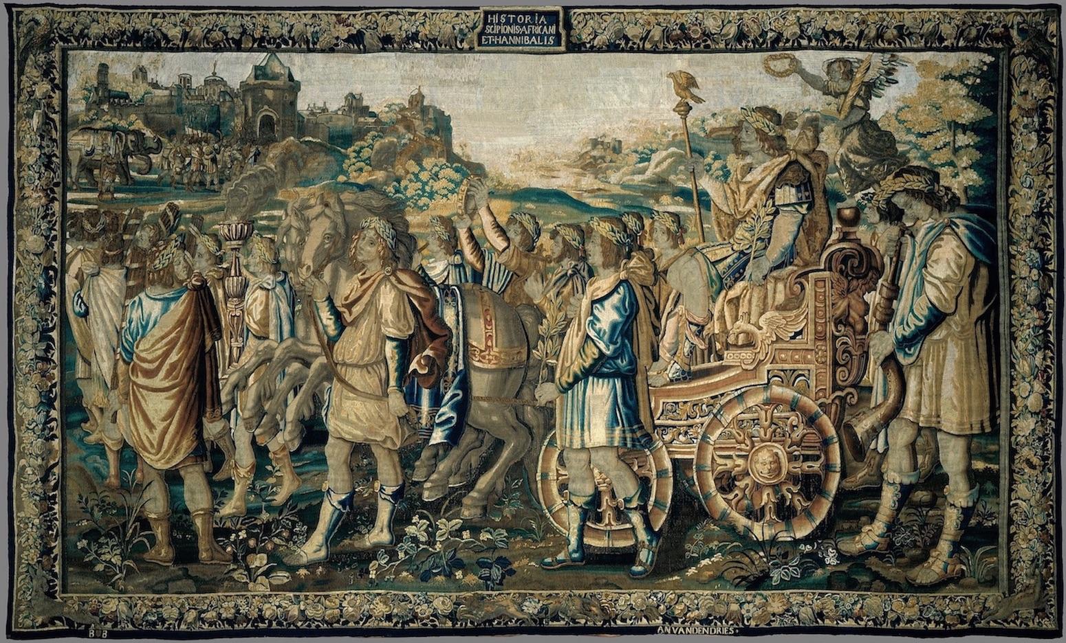 Tapeçaria Entrada Triunfal de Cipião em Cartago