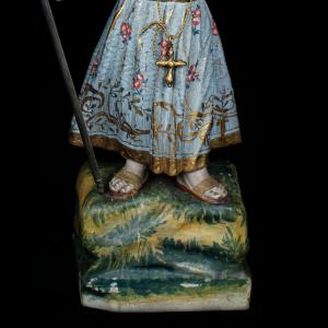Pormenor da escultura do Menino Jesus